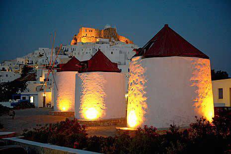 Astypálaia Island night Greek Isles