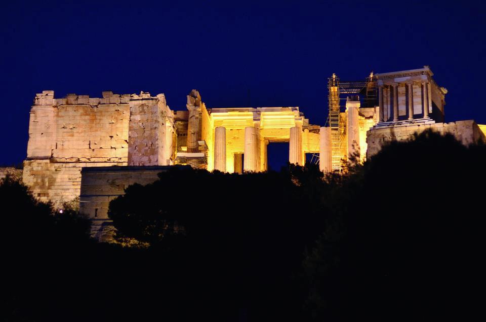Athens by Night Acropolis The Erechtheion