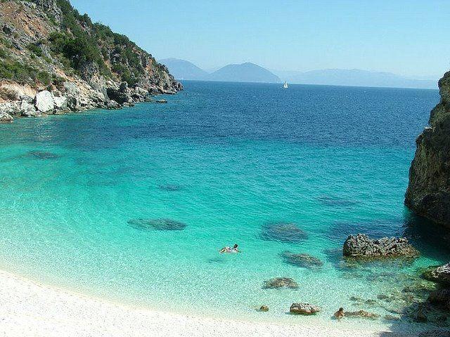 Lefkada Agiofili beach Greece
