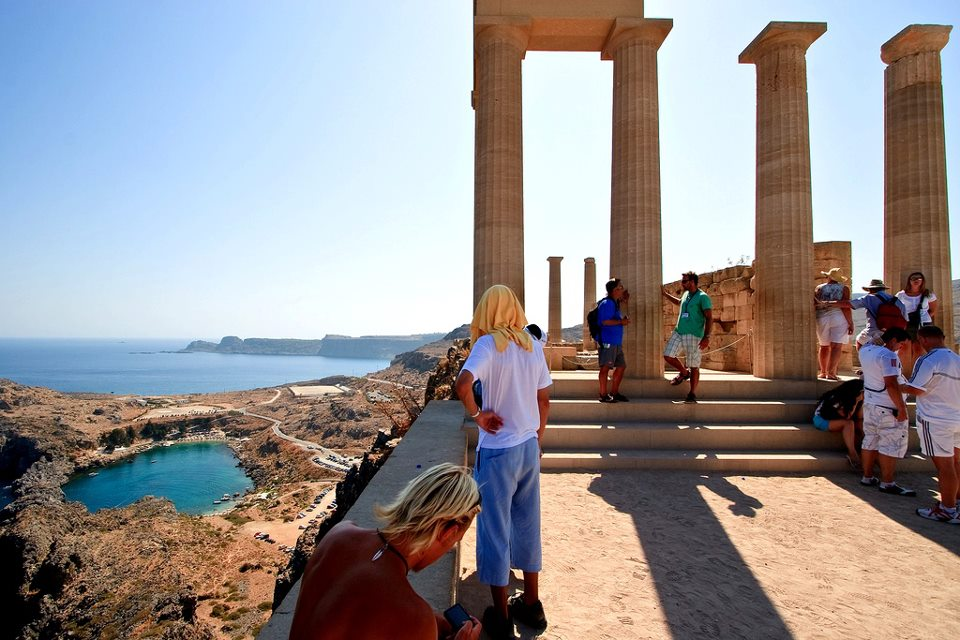 Lindos Temple of Athena Rhodes Island Greece