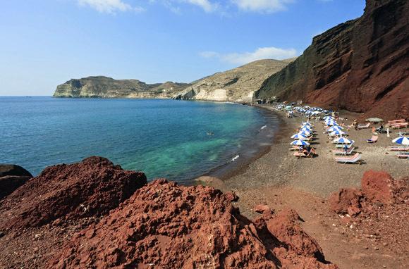 Santorini Red Beach Greece